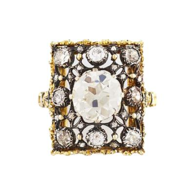 Buccellati Vintage Buccellati Diamond Filigree Ring