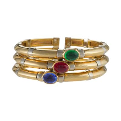 bracelet bangle ruby vintage gold bangles bracelets