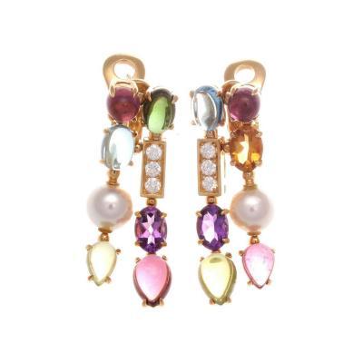 Bulgari Bulgari Allegra Gemstone Diamond Gold Earrings