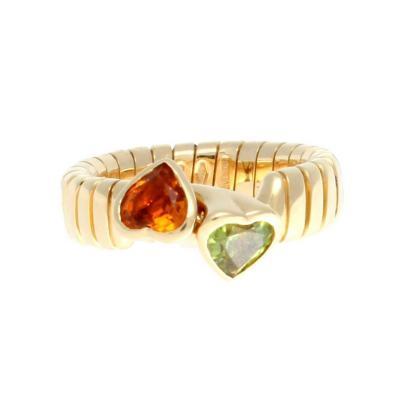 Bulgari Bulgari Double Heart Gold Ring