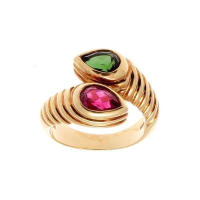Bulgari Bulgari Gemstone Gold Snake Ring
