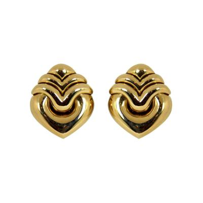 Bulgari Bulgari Gold Heart Earrings