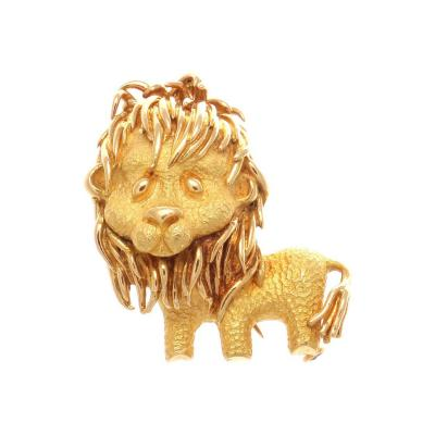 Bulgari Bulgari Lion Gold Brooch
