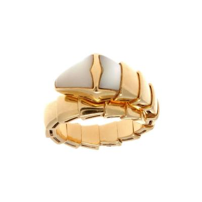 Bulgari Bulgari Serpenti Mother of Pearl Gold Ring