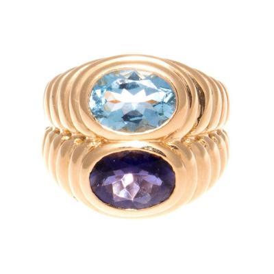 Bulgari Bulgari Topaz Amethyst Gold Ring