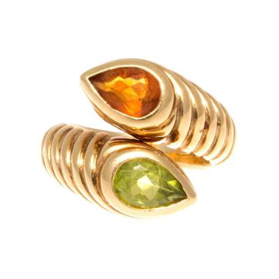 Bulgari Bulgari Two Stone Gold Ring