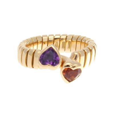 Bulgari Bulgari Two Stone Heart Gold Ring