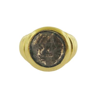 Bulgari Coin Gold Ring