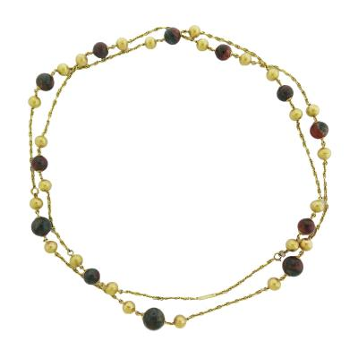 Bulgari Vintage Bulgari Gold and Bloodstone Long Chain