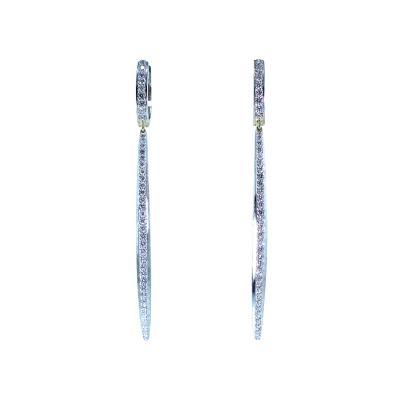 Bunda Diamond Long Earrings by Bunda