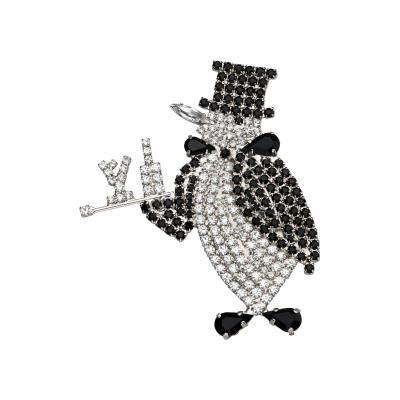 Butler Wilson Butler Wilson Rhinestone Butler Penguin Brooch