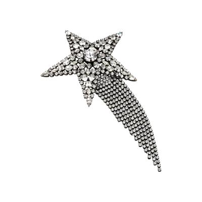 Butler Wilson Butler Wilson Rhinestone Shooting Star with Dangling Tail Brooch