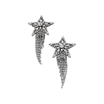 Butler Wilson Butler Wilson Rhinestone Shooting Star with Dangling Tail Earrings