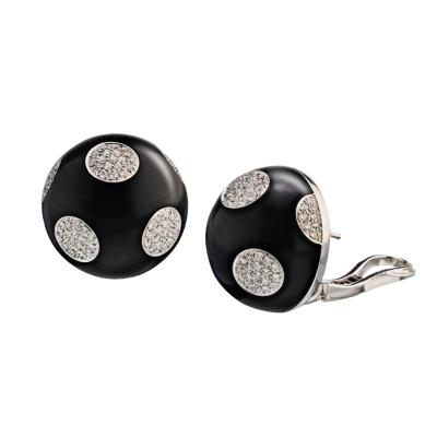 Bvlgari Bulgari BVLGARI 18K WHITE GOLD GIANNI ENIGMA POLKA DOT 1 56CTS EARRINGS