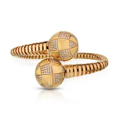 Bvlgari Bulgari BVLGARI 18K YELLOW GOLD GIANNI ENIGMA DIAMOND BYPASS BRACELET