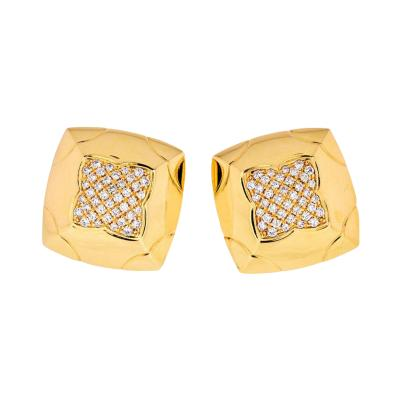 Bvlgari Bulgari BVLGARI 18K YELLOW GOLD PYRAMID DIAMOND EARRINGS