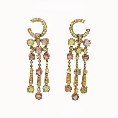 Bvlgari Bulgari Bulgari Allegra Fancy Colored Sapphire Drop Earrings