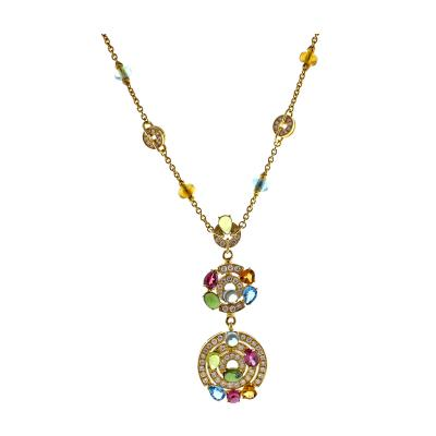 Bvlgari Bulgari Bulgari Astral Gem Set and Diamond Drop Necklace
