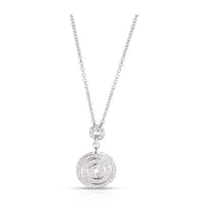 Bvlgari Bulgari Bulgari Astrale Cerchi Necklace with Diamonds in 18K White Gold 0 67 ctw