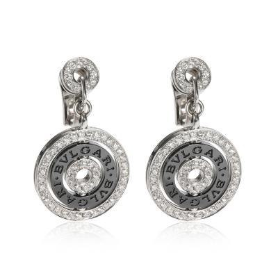 Bvlgari Bulgari Bulgari Astrale Diamond Ceramic Earring in 18K White Gold 2 16 CTW