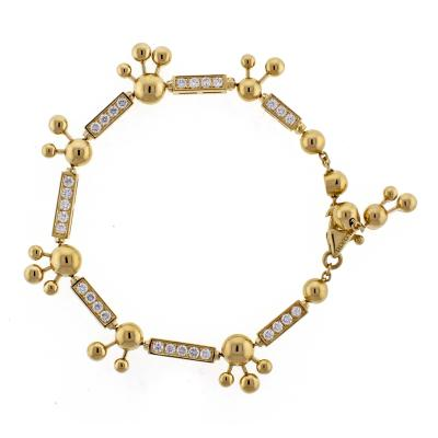 Bvlgari Bulgari Bulgari Astrale Diamond Yellow Gold Bracelet