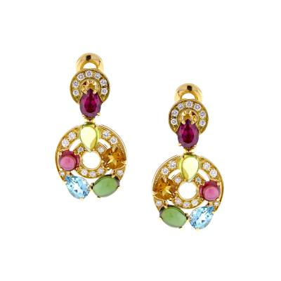 Bvlgari Bulgari Bulgari Astrale Gem Set and Diamond Drop Earrings