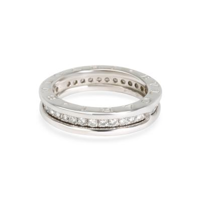 Bvlgari Bulgari Bulgari B Zero 1 Diamond Band in 18K White Gold 0 34 CTW