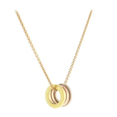 Bvlgari Bulgari Bulgari B Zero1 Necklace in Pink Yellow and White Gold