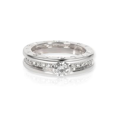 Bvlgari Bulgari Bulgari B zero1 Diamond Engagement Ring in 18K White Gold GIA E VS1 0 69 CT