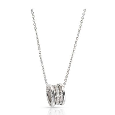 Bvlgari Bulgari Bulgari B zero1 Diamond Necklace in 18K White Gold 0 44 CTW