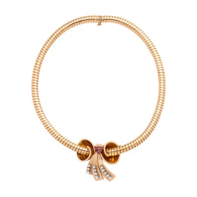 Bvlgari Bulgari Bulgari Bow Pendant Necklace