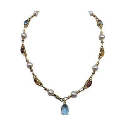 Bvlgari Bulgari Bulgari Color Stone Necklace