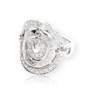 Bvlgari Bulgari Bulgari Concentrica Diamond Ring in 18K White Gold 0 66 CTW