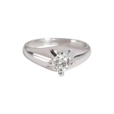 Bvlgari Bulgari Bulgari Corona Diamond Solitaire Engagement Ring in Platinum G VS2 0 33 Ct
