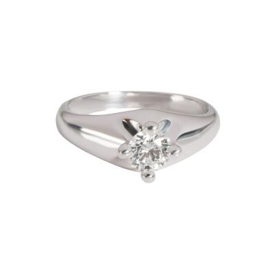 Bvlgari Bulgari Bulgari Diamond Corona Solitaire Engagement Ring in 18K White E VVS2 0 3 CTW