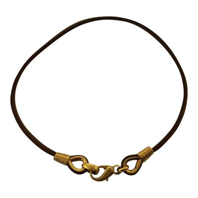 Bvlgari Bulgari Bulgari Gold and Leather Choker