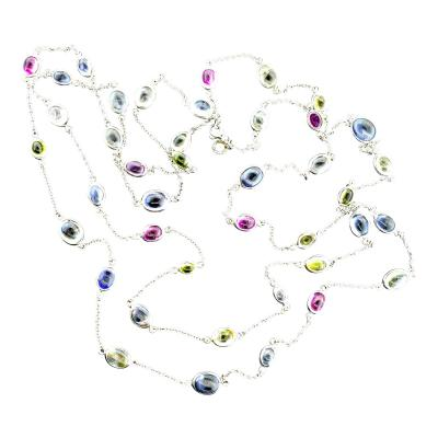 Bvlgari Bulgari Bulgari Necklace with multi color sapphires in 18K