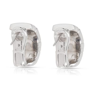 Bvlgari Bulgari Bulgari Parentesi Diamond Earrings in 18K White Gold 0 5 CTW