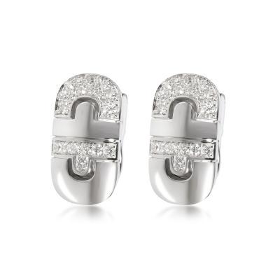 Bvlgari Bulgari Bulgari Parentesi Diamond Earrings in 18K White Gold 0 75 CTW