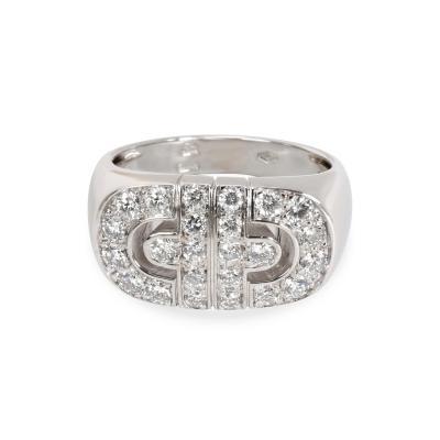 Bvlgari Bulgari Bulgari Parentesi Diamond Fashion Ring in 18K White Gold 1 CTW