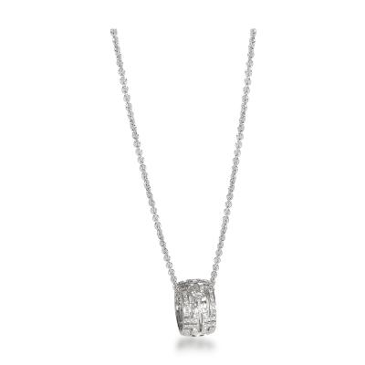 Bvlgari Bulgari Bulgari Parentesi Diamond Necklace in 18K White Gold 0 65 CTW