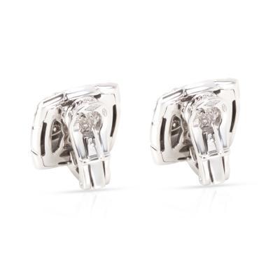 Bvlgari Bulgari Bulgari Piramide Diamond Earrings in 18K White Gold 0 58 CTW