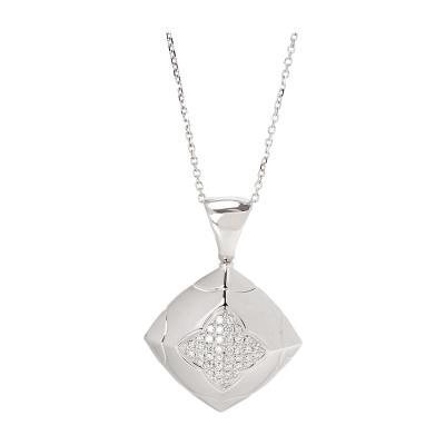 Bvlgari Bulgari Bulgari Piramide Diamond Pendant in 18K White Gold