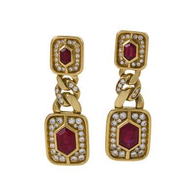 Bvlgari Bulgari Bulgari Ruby and Diamond Earrings