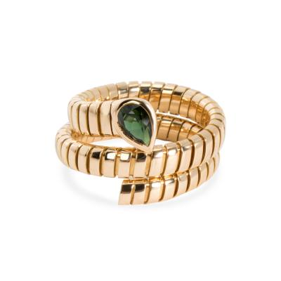 Bvlgari Bulgari Bulgari Serpenti Garnet Tubogas Ring in 18K Yellow Gold