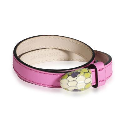 Bvlgari Bulgari Bulgari Serpentini Forever Bracelet in Pink Leather