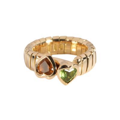 Bvlgari Bulgari Bulgari Tubogas Bypass Heart Ring in 18K Yellow Gold