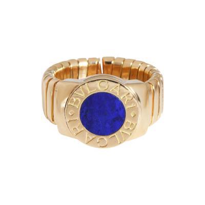 Bvlgari Bulgari Bulgari Tubogas Lapis Lazuli Ring in 18K Yellow Gold