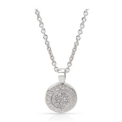 Bvlgari Bulgari Bvlgari Bvlgari Diamond Pendant in 18K White Gold 0 19 CTW