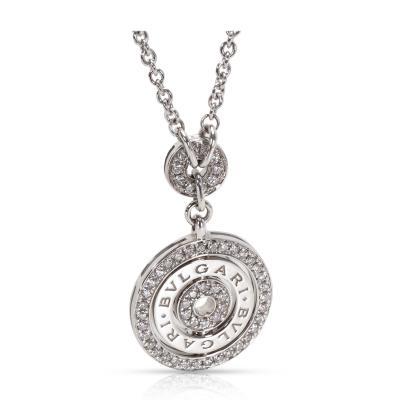 Bvlgari Bulgari Bvlgari Diamond Circle Necklace in 18KT White Gold 1 10 ctw